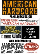 American Hardcore Panel Discussion Wed. December 15, 2010